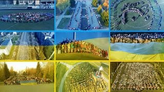 м.Бровари. Виконання Державного Гімну України учнями