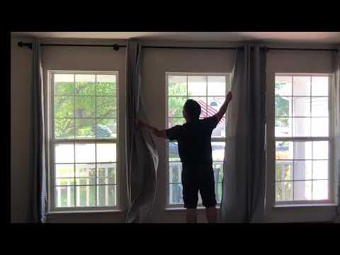 DIY curtain rod Extension / Extender