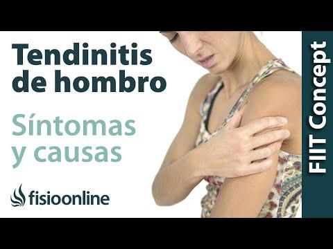 cuales son los sintomas de una tendinitis en el brazo