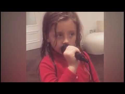 Abbey Clancy's daughter sings adorable karaoke to Wonderwall