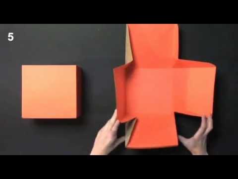 Caja Regalo Cuadrada Montaje Pack 2003 Selfpackaging Youtube