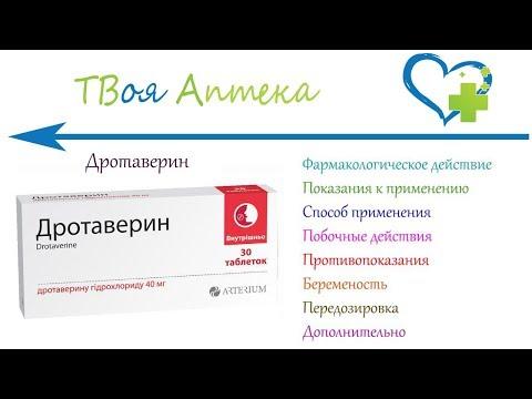 Дротаверин таблетки - показания (видео инструкция) описание, отзывы