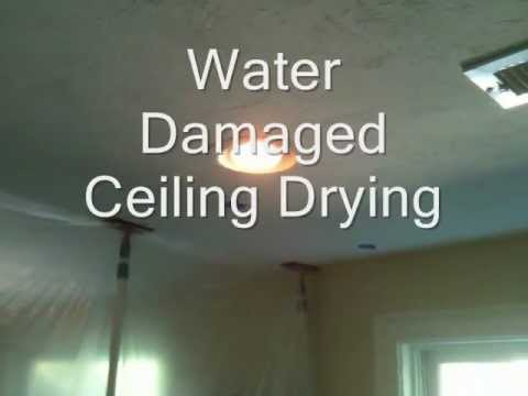 Water Damaged Ceiling Drying Wet Dry Out 978 392 1895