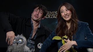Ezra Miller & Claudia Kim on Fantastic Beasts: The Crimes of Grindelwald