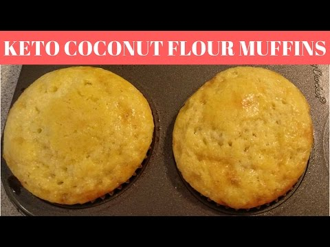 // SUPER QUICK KETO+LOW CARB COCONUT FLOUR MUFFINS // 2.4 net carbs per muffin