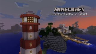 Minecraft Redstone Lighthouse - quick and easy!