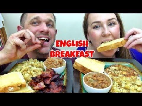 MUKBANG | ENGLISH BREAKFAST | CANADIANS EATING AN ENGLISH BREAKFAST