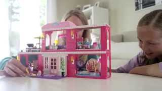 Family Building Time - Build'n Play Fab Mansion By Mega Bloks Barbie