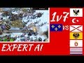 1 vs 7 Expert AI | Age of Empires III