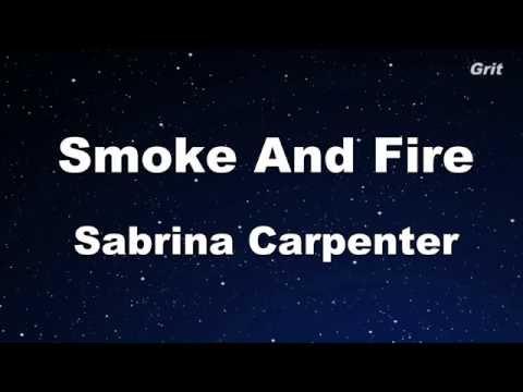 Smoke and Fire - Sabrina Carpenter Karaoke 【No Guide Melody】 Instrumental