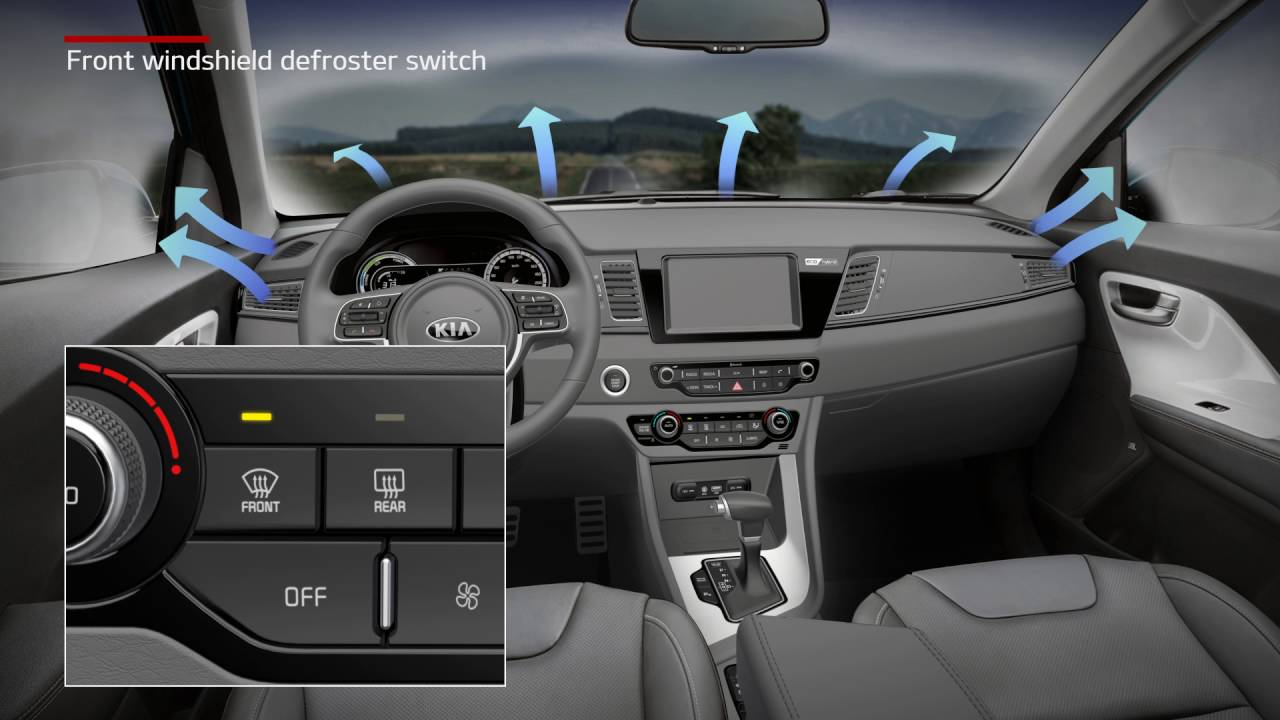 Niro Front Windshield Defroster Switch For Eu Youtube