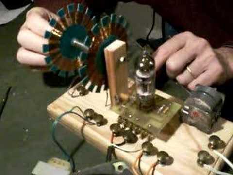 recepteur-antique-1-lampe radio receiver one triode pentode