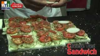 Cheese Veg Sandwich - Kolhapuri Street Food - World Street Food