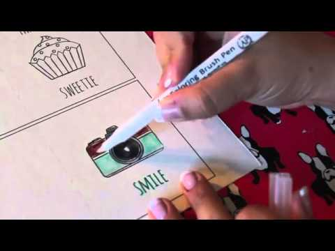 Tips Menggunakan Koi Coloring Brush Pens - YouTube