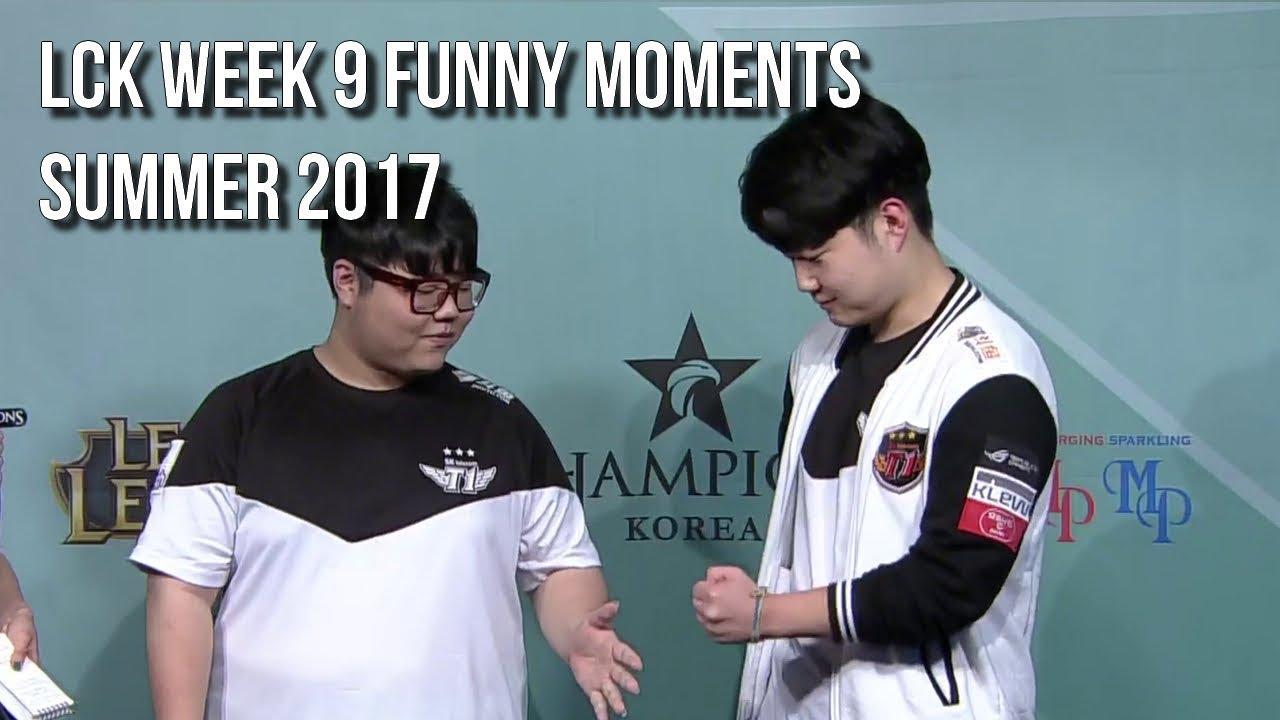 LCK WEEK 9 | FUNNY/FAIL MOMENTS   2017 Summer season break up