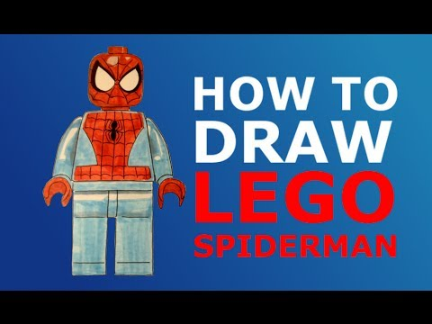 How To Draw Lego Spider Man Youtube