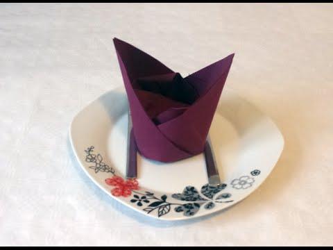 how to do paper napkin folding 13 youtube. Black Bedroom Furniture Sets. Home Design Ideas