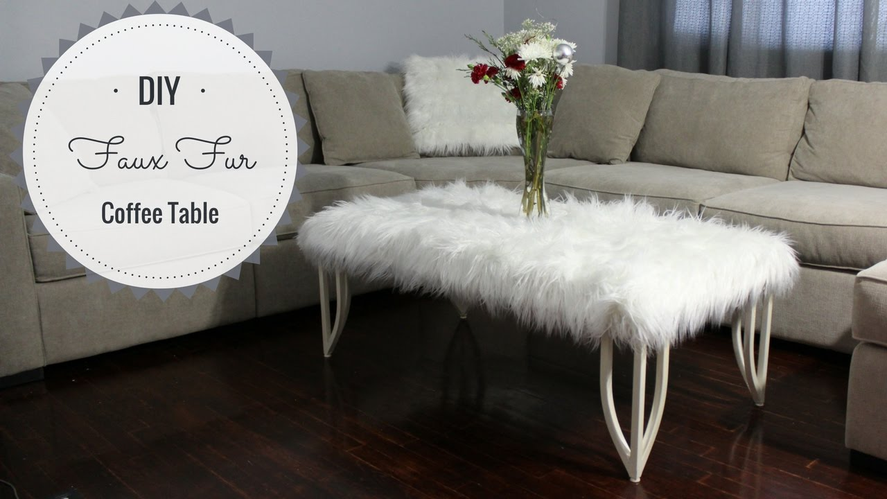 diy faux fur coffee table