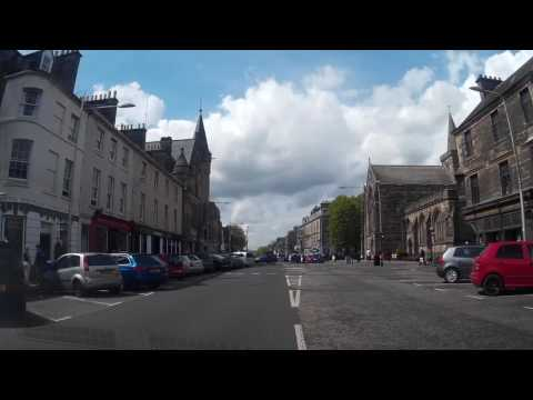 May Drive Along South Street To West Port In St Andrews Fife Scotland
