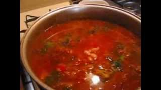 Vegetable Barley Soup With Beans & Peas - Vegetable Soup - December 2013