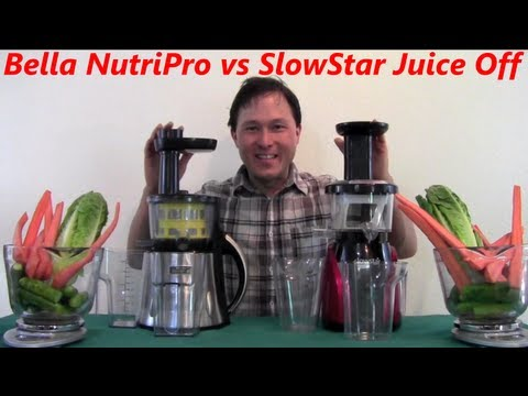 Slowstar Juicer vs Bella NutriPro Juicer Comparison Review