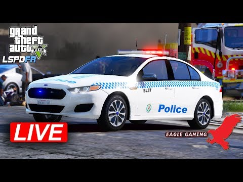 GTA V | Australian LSPDFR Live! | Los Santos Gang Patrol in the NSW GD Ford Falcon FGX