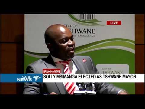 Solly Msimanga's mayoral speech