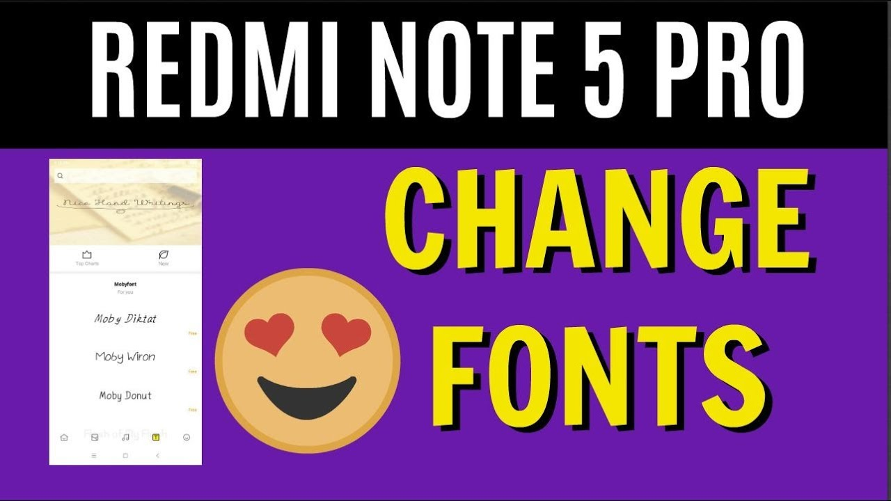 Guide to Change Fonts on Redmi Note 5 PRO - [NO ROOT] Download Fonts Free
