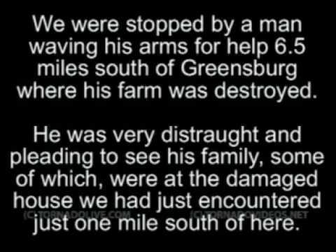 Rare video of the Greensburg KS EF5 tornado - The Aftermath