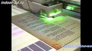 видео УФ-печать на стекле, пластике, керамической плитке, дереве, оргстекле в Москве