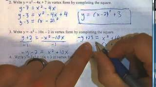 SPHS Pre-AP Algebra 2: Unit 3 Test Review 1-7