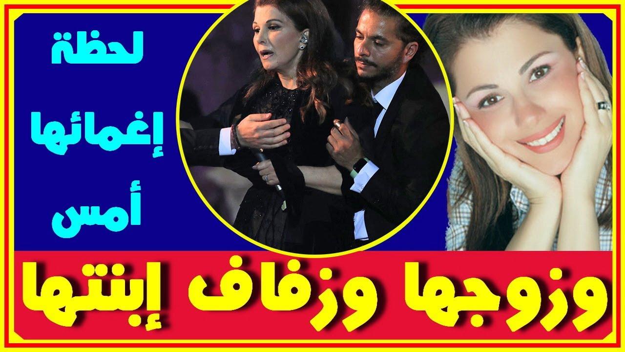 بالفيديو لحظة إغماء ماجدة الرومي على المسرح امس.. وشاهد والدتها المصرية وديانتها وعمرها وزفاف ابنتها
