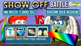 200 DLS PRANK😂😂😂!  - PRO VS PRO SHOW OFF || Growtopia