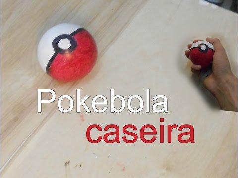 DIY como fazer pokebola caseira / tutorial facil