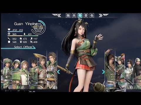 DYNASTY WARRIORS 9 All Characters Selection | Wei, Wu, Shu, Jin & Other ( English Language Voice )