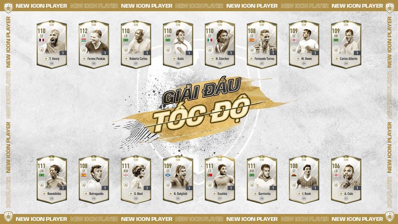 👑 Giải đấu Tốc Độ FIFA Online 4 - ICON nào sẽ xứng đáng với danh hiệu Vua Tốc Độ?