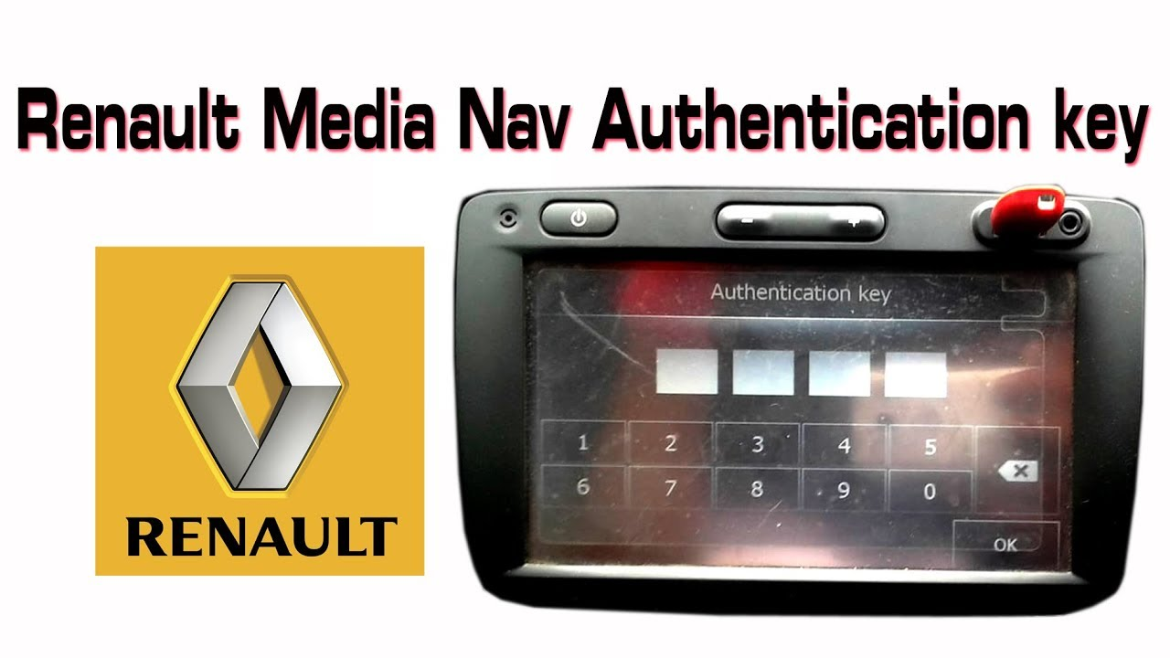 Renault Medianav Authentication Key Youtube
