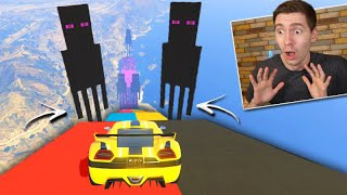 GTA V Online: CORRIDA VAI E VOLTA do ENDERMAN!!! (DO MINECRAFT)