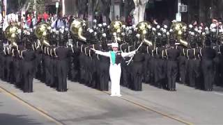 From Chula Vista, CA Olympian High School Eagle Marching Band perfo...