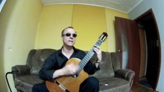 Незрячий преподаватель. Уроки игры на гитаре 12. Игра боем.