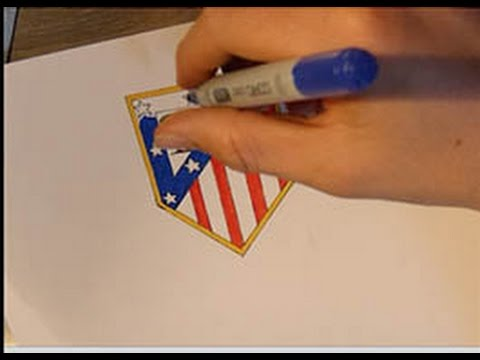 Comment Dessiner Le Logo De Latletico Madridhow To Draw Atletico Madrids Logo