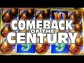 THE COMEBACK OF THE CENTURY -- Casino Slot Machine Bonus Wins!!