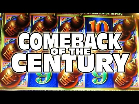 THE COMEBACK OF THE CENTURY -- Casino Slot Machine Bonus Wins!!