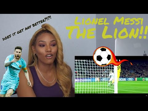 American sports fan reacts to Lionel Messi- The Lion (soccer) highlights reaction request