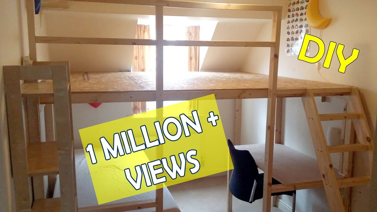 HOW TO MAKE A LOFT BED BUNKBED LARGE DIY LOFTBED ...