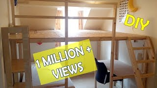 I have built a large loft bed for my kids and the total material cost added up to just £100. Required material and prices are shown at