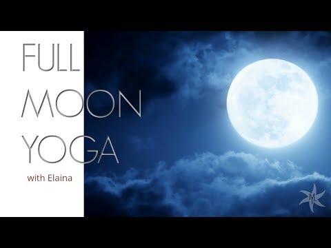 🌕Super Blue Blood Full Moon Lunar Eclipse Yoga Flow with Elaina Maui | Yoga | Live