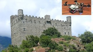 Castello di Ussel / Castle of Ussel - Valle d'Aosta - Aerial Video from FPV250v3 with TOPCAM
