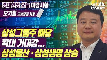 [마감시황] 삼성그룹주 배당 확대 기대감…삼성물산·삼성생명 상승
