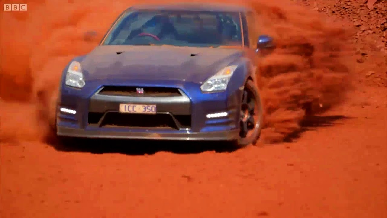top gear nissan gtr mine race youtube. Black Bedroom Furniture Sets. Home Design Ideas